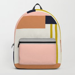 Sol Abstract Geometric Print in Multi Backpack