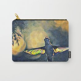 Golden Blue Hummingbird by CheyAnne Sexton Carry-All Pouch