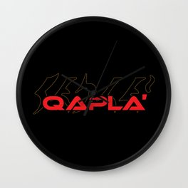 Qapla' Wall Clock