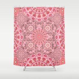 Crystal Garden Mandala Shower Curtain