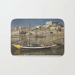 Moody Porto barges on the Douro Bath Mat