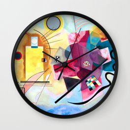 Wassily Kandinsky - Yellow Red Blue Wall Clock