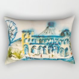 Santa Monica Pier Rectangular Pillow