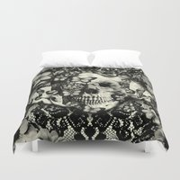 victorian Duvet Covers featuring Victorian Gothic by Kristy Patterson Design