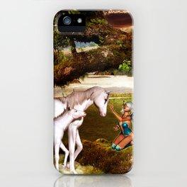 Fairy and Unicorns iPhone Case