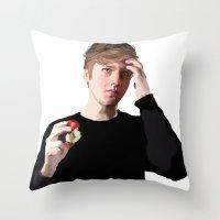 ezra koenig Throw Pillows featuring George Ezra by reichanbach
