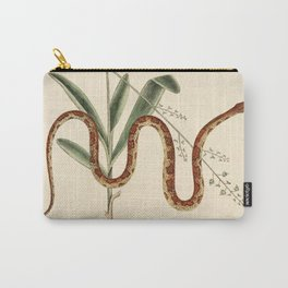 Vintage snake botanical plate French drawing antique art nouveau emo goth gothic snake Carry-All Pouch