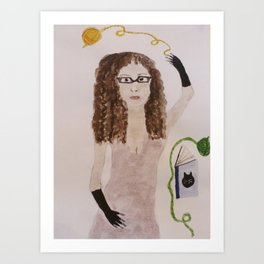 Catwomen 2 Art Print