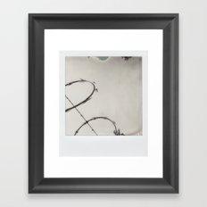 Razor Wire Framed Art Print