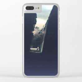 On a dark path Clear iPhone Case