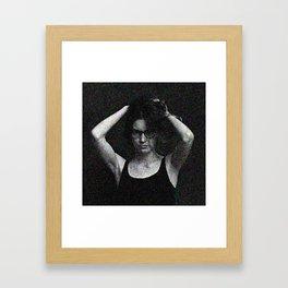Antonina in black and white Framed Art Print