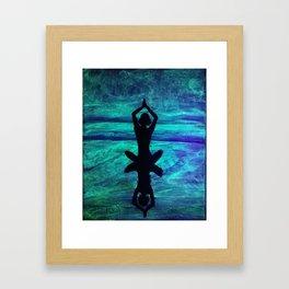 Yoga Glow Framed Art Print