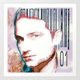barcode haircut Art Print