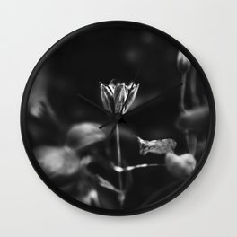 Reaching out - BW Wall Clock