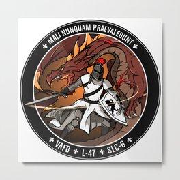 """NROL-47 """"Topaz"""" Logo Metal Print"""