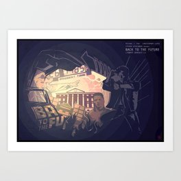 Back to The Future Fan Poster Art Print