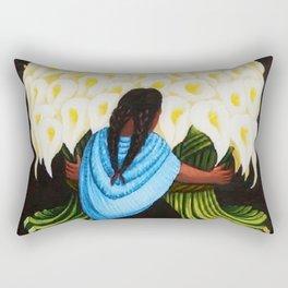 Flower Seller 1942 by Diego Rivera Rectangular Pillow