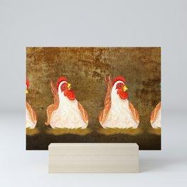 Chickens Joking Around Mini Art Print