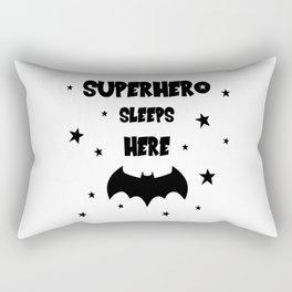 Superhero Sleeps Here Rectangular Pillow