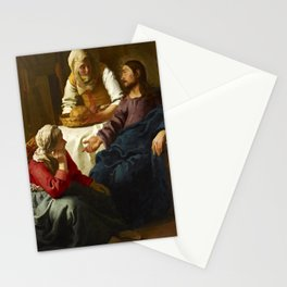 "Johannes Vermeer ""Christ in the House of Martha and Mary"" Stationery Cards"