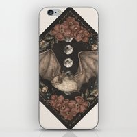 bat iPhone & iPod Skins featuring Bat  by Jessica Roux
