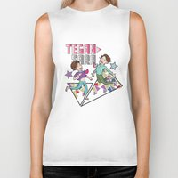 tegan and sara Biker Tanks featuring Tegan & Sara by nathan wellman