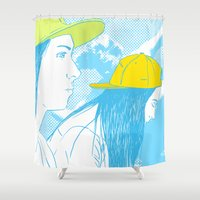 girls Shower Curtains featuring Girls by Camila Fernandez