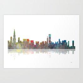 Chicago Skyline 1 BW1 Art Print