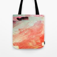 waves Tote Bags featuring Waves by Okti