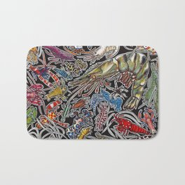Prawns, gambas and shrimps for ocean lovers, marine biologists and scuba divers Bath Mat