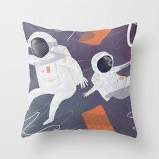 Floating In Space Throw Pillow