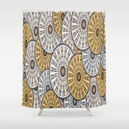 gears round header cog Shower Curtain