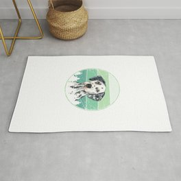 Retro Dalmatian Rug