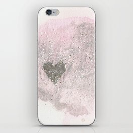 Silver Heart iPhone Skin