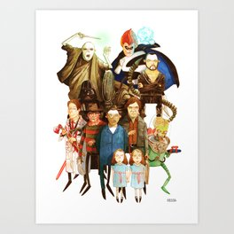 The League of Absolute Evil! Art Print