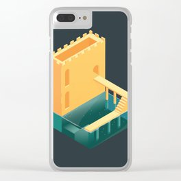Logged Castle Clear iPhone Case