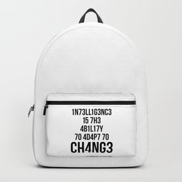 Adapt To Change Backpack