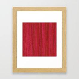 Strawberry Colored Vertical Stripes Framed Art Print
