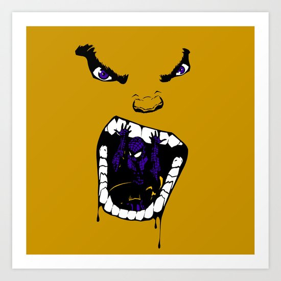 Hungry Hungry Hulk // Yellow Art Print
