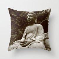 buddha Throw Pillows featuring Buddha by Falko Follert Art-FF77