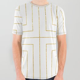 Converge Three Gold All Over Graphic Tee