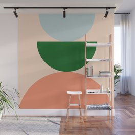 Abstraction_BALANCE_Minimalism_Color_Art_001 Wall Mural