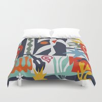 matisse Duvet Covers featuring Inspired to Matisse by Chicca Besso