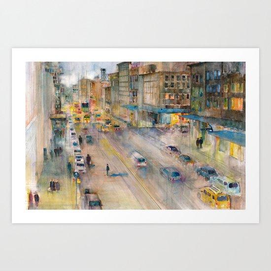 New York City Street View form High Line Art Print