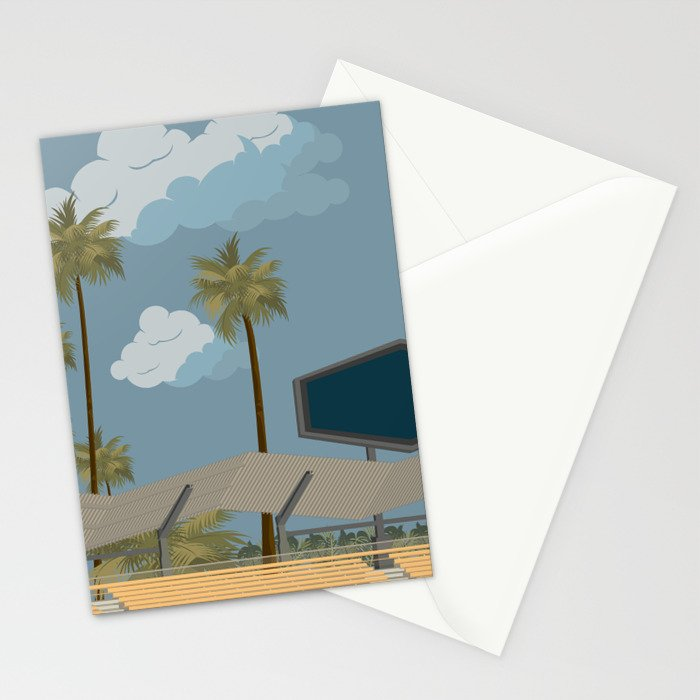 Dodger Stadium's Outfield Pavilion Stationery Cards