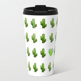 Cacti Emoji Love Travel Mug