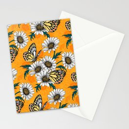 Jezebel butterflies and daisy flowers Stationery Cards