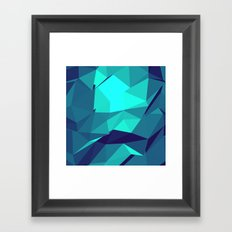 Blue Geometric Triangles Framed Art Print