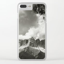 The Dolomites - Fine Art Mono Print Clear iPhone Case