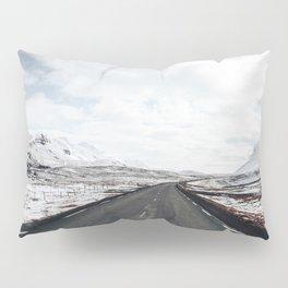 icelandic Winter road Pillow Sham